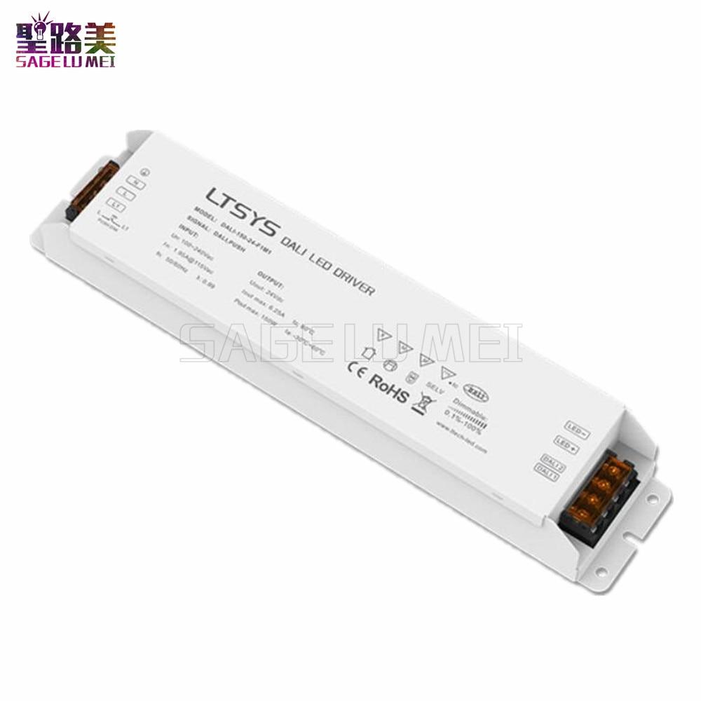 LTECH 150W 24VDC CV DALI Driver DALI-150-24-F1M1 AC100-240V input DC24V 6.25A 150W output DALI Push Dim DALI Led Dimming Driver