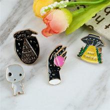 Enamel Creative Design All Match Brooch Individuality Coat Collar Bag  Enamel Pin Brooches For Women Harajuku ee98393c0228