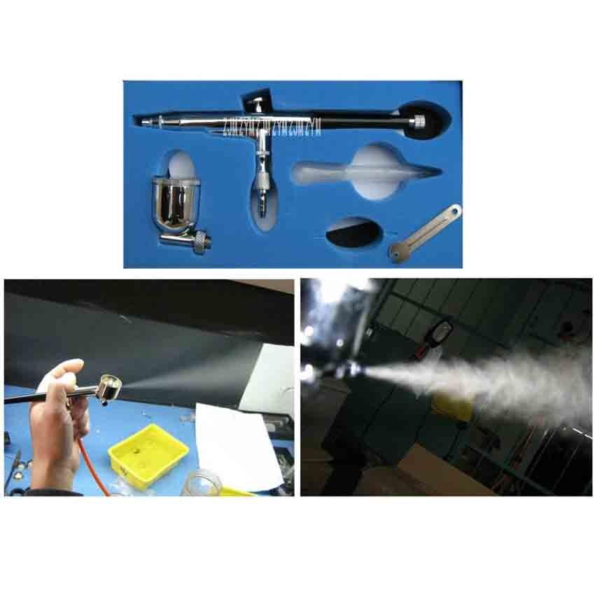 Модель пигментов краски воздушный насос Аэрограф сенсорная ручка аэрографа пневматический инструмент 8732 из нержавеющей стали Материал иглы 0,3 мм Калибр