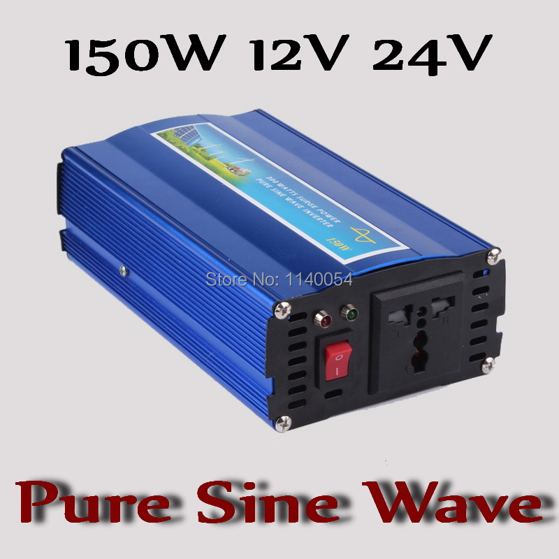 Fast Shipping!! 150W Inverter 12V 24V DC to AC 110V or 220V with 300W Surge Power, 150W Pure Sine Wave Power Inverter solar power on grid tie mini 300w inverter with mppt funciton dc 10 8 30v input to ac output no extra shipping fee