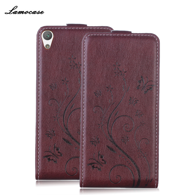 For Sony E 5 Butterfly Painted Photo Frame Flip Case For Sony Xperia E5 F3311 F3313 Leather Cover Flip Phone Bags & Case
