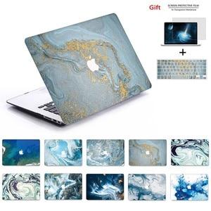 Image 1 - Yeni Mermer 3D baskı MacBook notebook kılıfı dizüstü bilgisayar kılıfı Için MacBook Hava Pro Retina 11 12 13 15 13.3 15.4 inç Torba