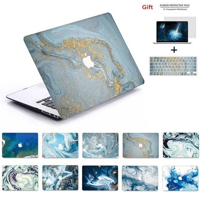 Yeni Mermer 3D baskı MacBook notebook kılıfı dizüstü bilgisayar kılıfı Için MacBook Hava Pro Retina 11 12 13 15 13.3 15.4 inç Torba