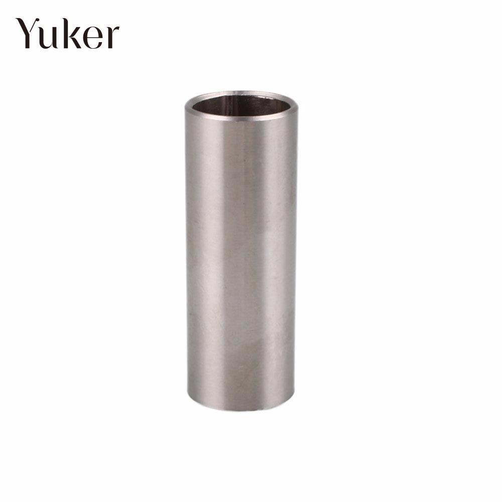 Comfortable Stainless Steel Guitar Slider Finger String Knuckle String Cylinder Slider Guitarra Length 60mm Silver Diameter 25mm