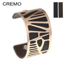 Cremo Woodpecker Cuff Bracelets & Bangles Statement Delicat Stainless Steel Bracelet Leather Cuff Reversible Femme Pulseira цена 2017
