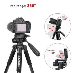 Image 5 - ZOMEI Q222 Camera Tripod Tripode Stative Flexible Photographic Tripod Monopod Travel Stand for Smartphone Camera DSLR Projector