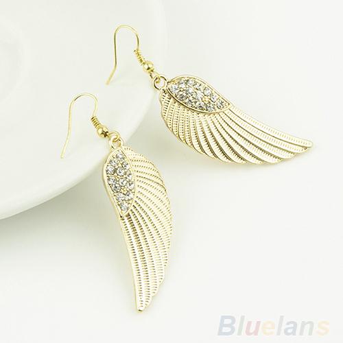Angel Wing Earrings Gold