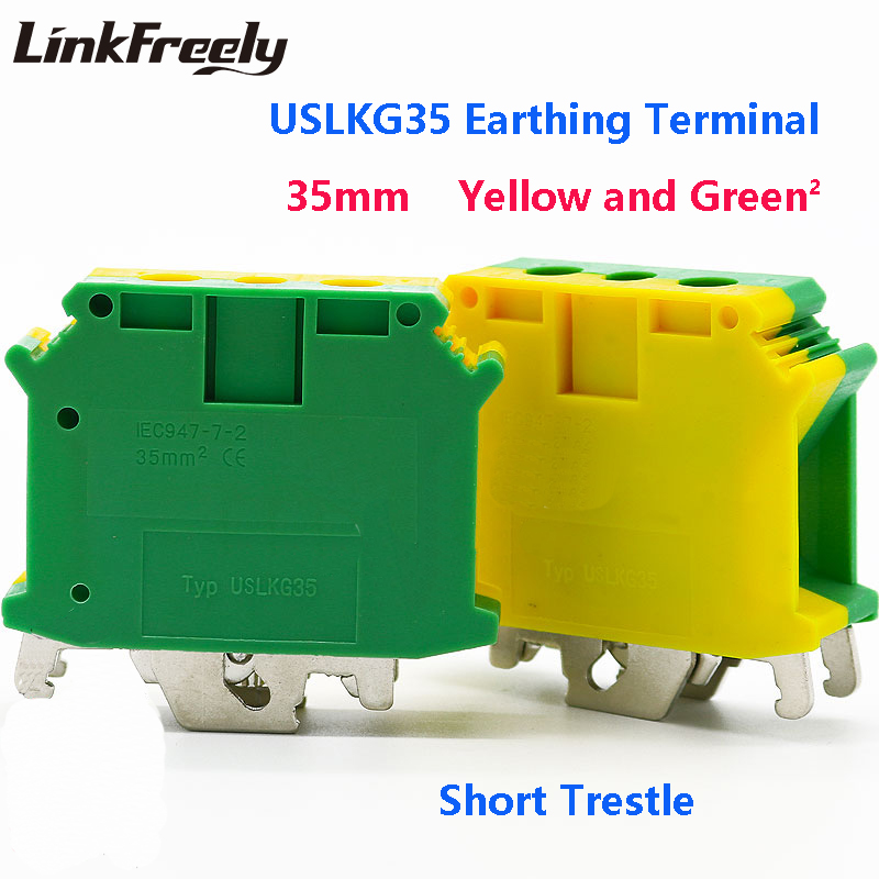 USLKG35 20pcs Electric Wire Screw Earthing Terminal Connector Set USLKG2.5 -50mm^2 Faston Crimp Block Clamp