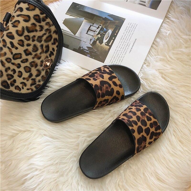 Summer Slippers Women Slides Leopard Indoor & Outdoor Slippers Platform Sandals Shoes Women Slip On Flip Flops Zapatillas Mujer 5
