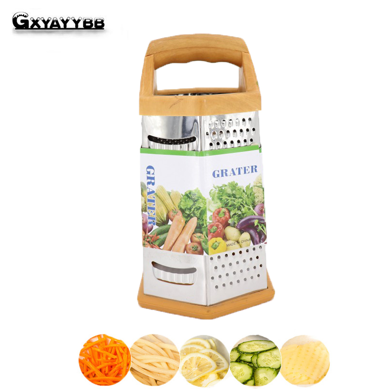 GXYAYYBB Six Side Grater Multifunctional Grater Stainless Steel Plane Shredded Device Cr ...
