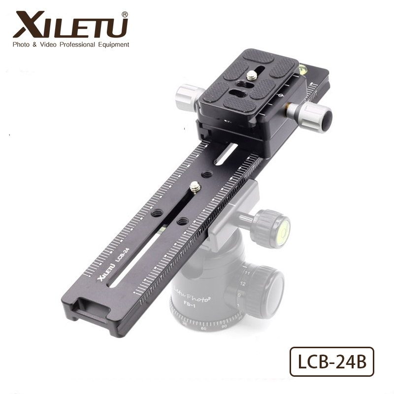 XILETU LCB-24B Track Dolly Slider Focusing Focus Rail Slider & Clamp and QR Plate Meet Arca Swiss For DSLR Camera Canon