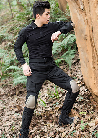 Chemise de Combat militaire Camouflage de l'armée américaine chemise militaire Multicam uniforme ACU vêtements tactiques vêtements de chasse avec genouillères