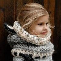 Neck Warmer Wrap Scarf Winter Child Earmuffs Crochet Ear Cover Fox Style Ear Warmer Chidren Knitted
