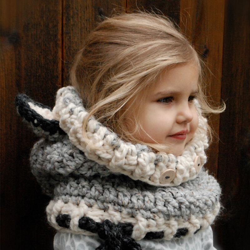 Neck Warmer Wrap Scarf Winter Child Earmuffs Crochet Ear