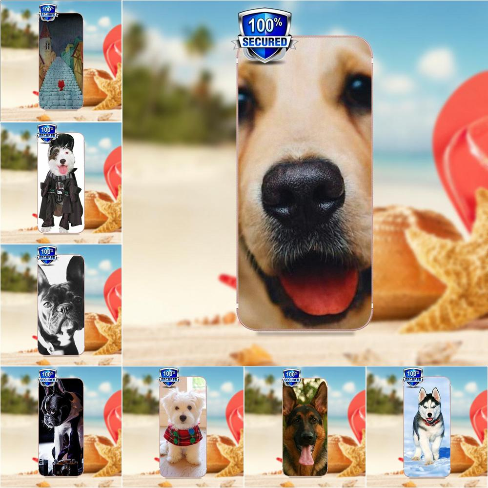 Cute And Lovely Dog German Shepherd Dog Puppy For HTC Desire 530 626 628 630 816 820 One A9 M7 M8 M9 M10 E9 Plus For Moto G2 G3