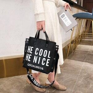 Image 1 - אופנה נשים תיק 2020 מכתב הדפסת נשים כתף תיק חדש קטן תיקי צלב גוף שקיות עבור נשים 2020
