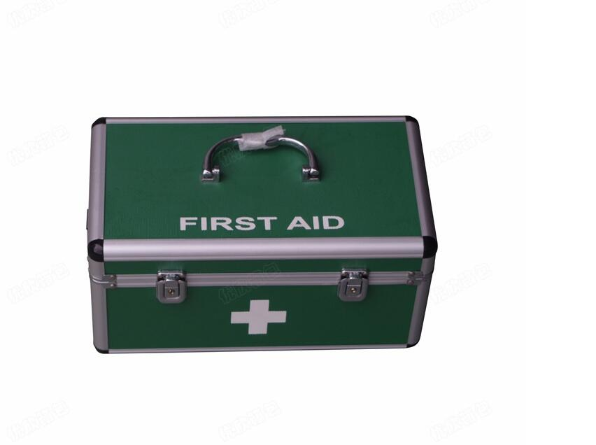 Aluminum alloy first aid home medical storage shoulder tray medicine box aluminum frame medicine box new gbj free shipping home aluminum medical cabinet multi layer medical treatment first aid kit medicine storage portable