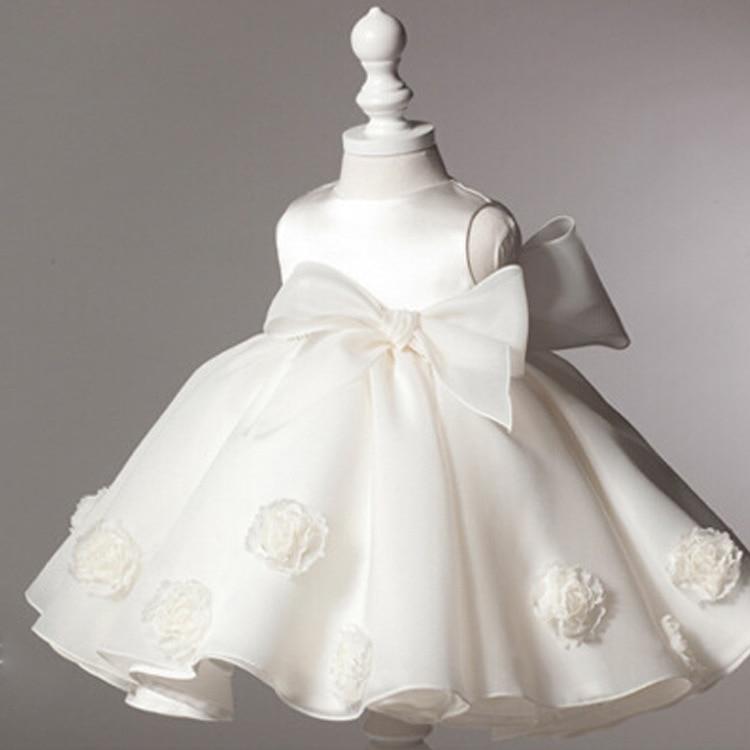 2016 summer girl dress Big bow fashion tutu Wedding Kids Girls ... 22ab86b301dc
