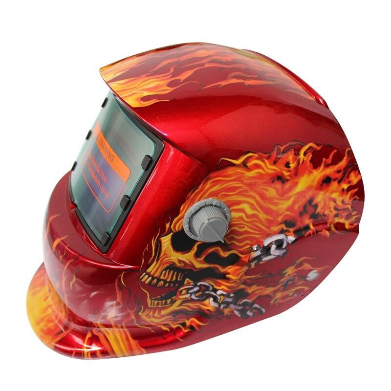 2018 New Pro Solar Welder Mask Auto-darkening Welding Helmet Pattern Fire Skull 100% Original