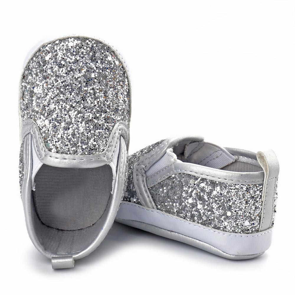 48395825f ... Newborn Baby Girls Crib Shoes Soft Sole Anti-slip First Walkers Infant  Sneakers Children Sequins ...