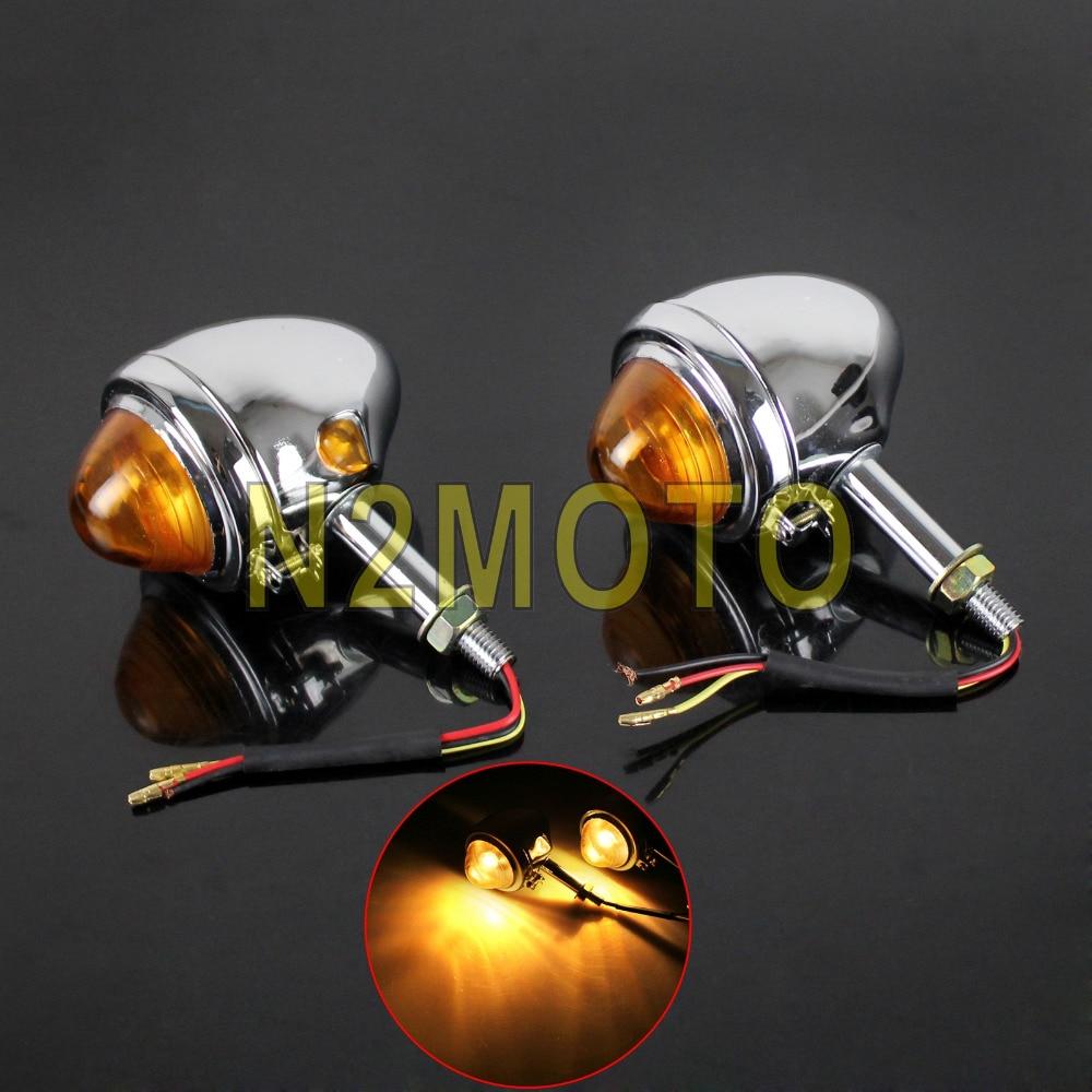 Chrom Motorrad Bullet Blinker Licht Anzeige Blinker für BMW M71 M72 R12 R75 R51 K750 KS750 Ural Seitenwagen Flasher