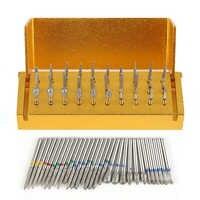 30 piezas Dental diamante Burs taladro desinfección bloque de mano de alta velocidad soporte de instrumento de aluminio herramienta de blanqueamiento Dental TSLM2
