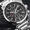 BENYAR Fashion Chronograph Sport Mens Watches Top Brand Luxury Military Stainless Steel Quartz Watch Clock Relogio