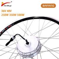 BAFANG 36V 48V Electric Wheel Motor 250W 350W 500W 8FUN Front Brushless Hub Motor For Electric Bicycle e bike Kit Free Shipping