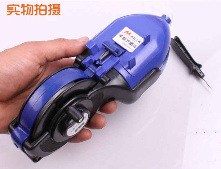 Free Ship Woodworking Construction Tool Carpenter Manual Ink Marker Fountain Duct Chalk Line With 15M Work Length And Big Foam