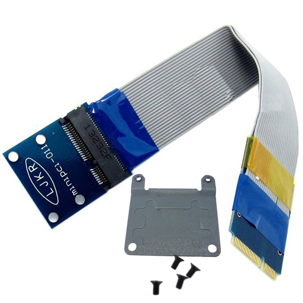 Laptop Mini PCI Express Card Mini PCIe Extender Male To Female Extension Flexible Cable + Half-size To Full Size Bracket