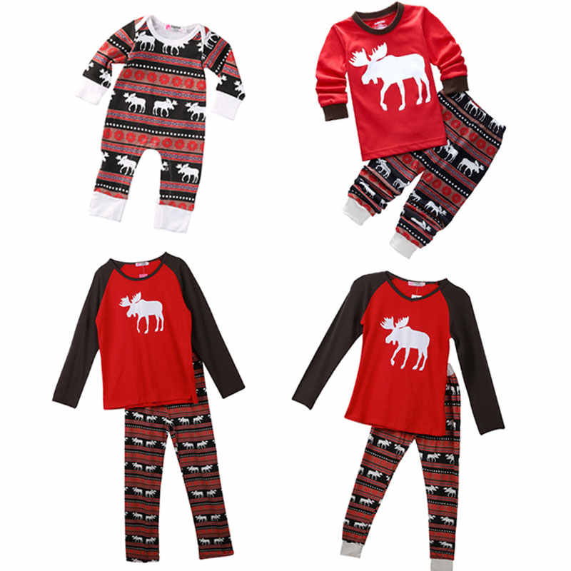8809f313fa Detail Feedback Questions about 2017 Christmas Family Pajamas Set Adult Kids  Sleepwear Nightwear Pjs Photgraphy Prop Party Clothing Xmas clothes for new  ...