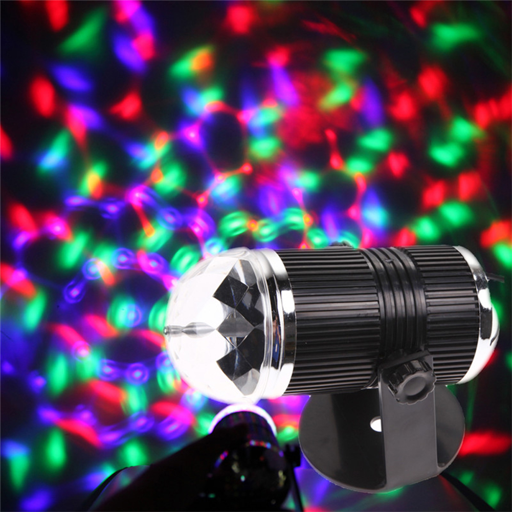 Magic Color RGB Laser Effect Led Stage Lights KTV DJ Christmas Lamps Sound Activated Crystal Disco Ball Xmas Holiday Party Decor rg mini 3 lens 24 patterns led laser projector stage lighting effect 3w blue for dj disco party club laser
