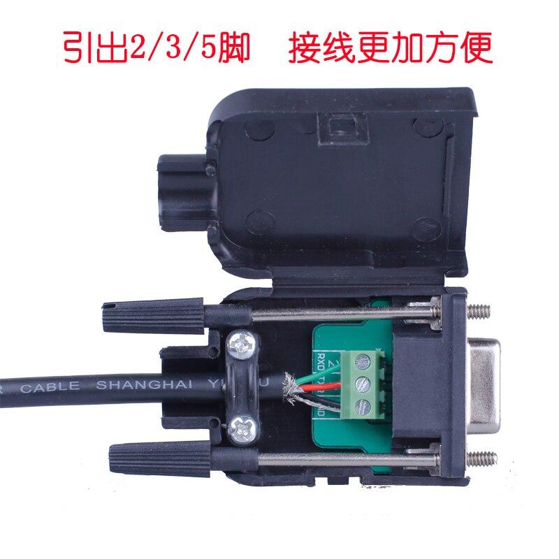 2 Row 9 Needle Serial Port Head DB9 Avoid Welding Head Plug 9 Needle Transfer Terminal  Connector
