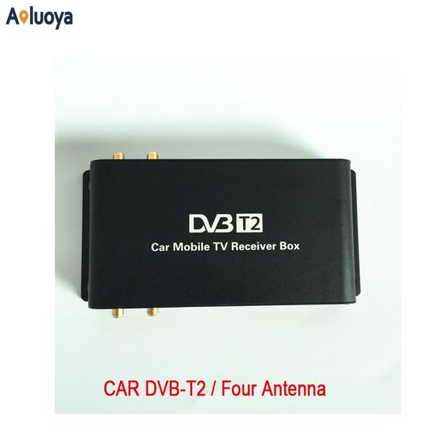 Aoluoya Newest 4 Tuner Car DVB-T2 Tuner Digital Car Tv Tuner MPEG4 Car mobile digital DVB T2 Receiver For car monitor