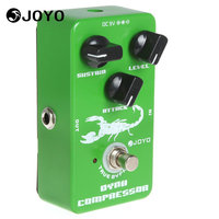 Joyo JF 10 Dynamic Compressor Guitar Pedal Effect Box With True Bypass Low Noise 3 Knobs