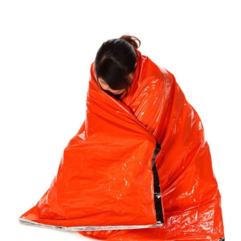Alta calidad de acampada portátil de emergencia manta supervivencia rescate bolsa de dormir tienda de campaña al aire libre senderismo equipo de camping
