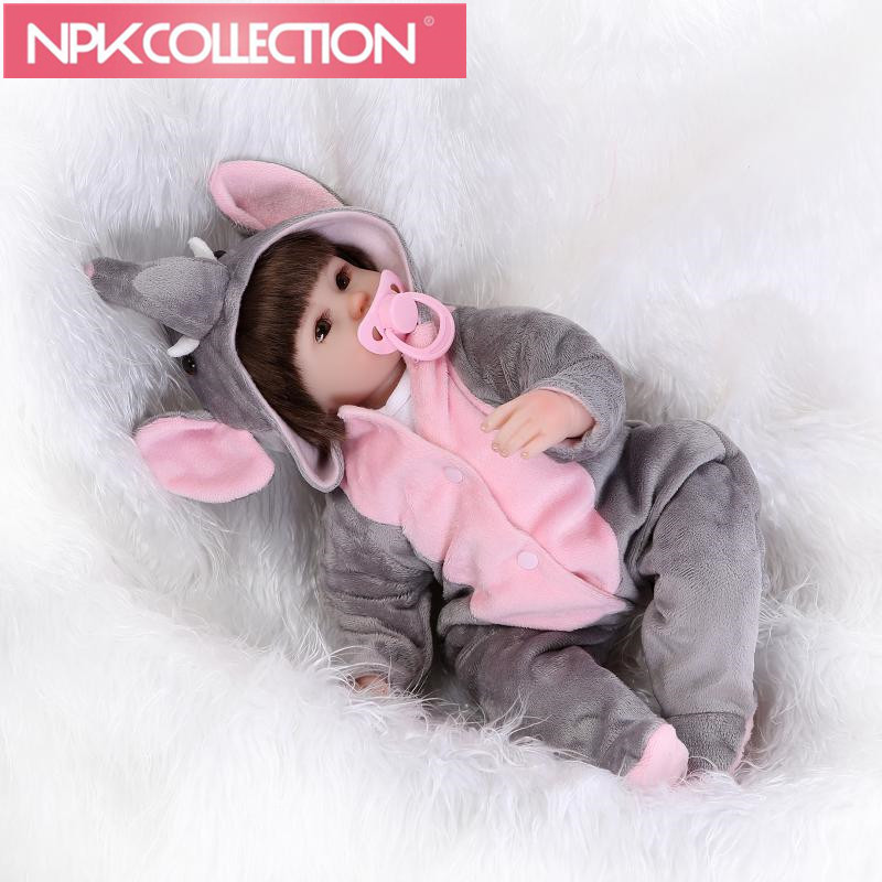 Cosplay Elephant Reborn baby Dolls DIY Toys 16 inch Realistic Silicone Babies Doll Touch Soft Cartoon bebe Bonecas hot Sale N140 hot sale 1000g dynamic amazing diy educational toys no mess indoor magic play sand children toys mars space sand