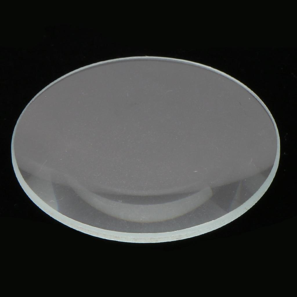 10 조각 평면 미네랄 크리스탈 시계 유리 얼굴 렌즈 교체 크기 28.5-34mm 시계