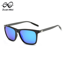 Zuan Mei 2017 New Fashion Mens Sunglasses Polarized Fishing Driving Sunglasses Mirror Square Sun Glasses for Adults ZM0733