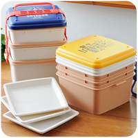 3 Layers Large Capacity Microwavable Lunch Box Plastic Lunchbox Adult Picnic Camping Bento Boxs Japanese China Dinnerware Set