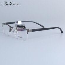 Bellcaca Men Spectacle Frame Eyeglasses Computer Optical Prescription Myopia Eye Clear Lens Glasses For Male Eyewear 6609