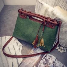 2017 heißer Verkauf Marke Solide Frauen Handtaschen Vintage Frauen Messenger Bags Damen Tote Mode Quaste Schulter Taschen A1417