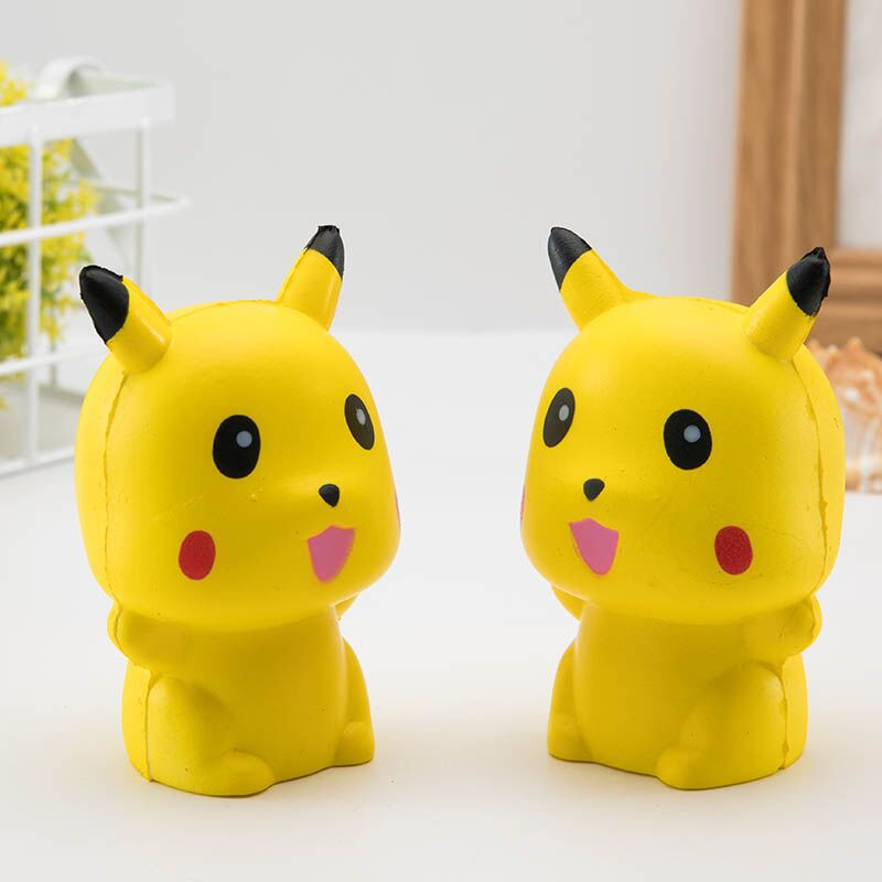 10CM Squeeze Exquisite Fun Cute Pikachu Squishy Charm Slow Rising Simulation antistress funny gadgets interesting toys цена 2017