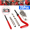 25pcs Thread Insert Installation Kit Recoil Repair Tool Drill Tap M6 X 1 0 X 8