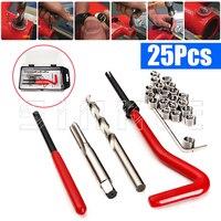 25pcs Thread Insert Installation Kit Recoil Repair Tool Drill Tap M6 X 1 0 X 8