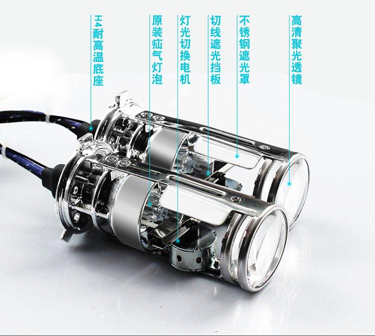 GZTOPHID New Upgrades 35W 12V AC Car Light H4 Bi-xenon Projector Lens Bulbs High / Low Beam Light HID Headlight Bulbs hid bi xenon halogen bifocal high low beam projector fog light lens lamps holder for bmw 1 series 118i 120i e87 x3 e83 x5 e70