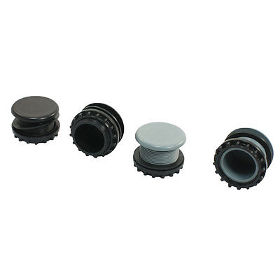 4 Pcs Gray+Black Plastic Panel Plug for 22mm Mount Hole Push Button Switch