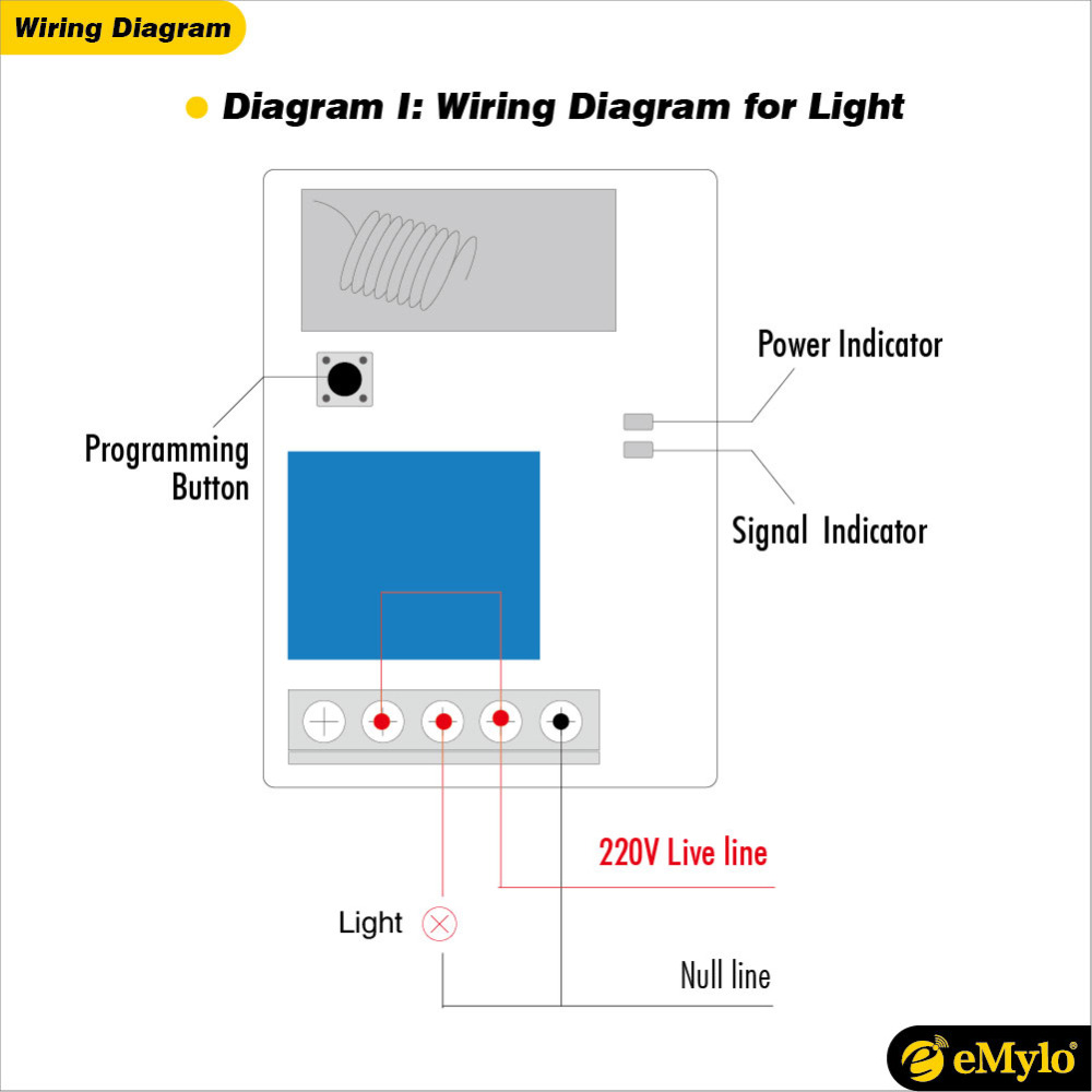 Wiring diagram for remote light switch emylo switch rf ac 220v 230v 240v 1000w wireless remote control rh aliexpress com cheapraybanclubmaster Gallery