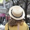 1 Шт. 2016 Новый Южная Корея Прекрасный Мяч Fedoras Caps Весна Лето Открытый Пляж Соломенные Шляпы Родитель-ребенок Шапочка 3 Цветов