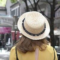 1 Pcs 2016 New South Korea Lovely Ball Fedoras Caps Spring Summer Beach Straw Hats Parent-child Cap 3 Colors